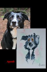 Caricature chien